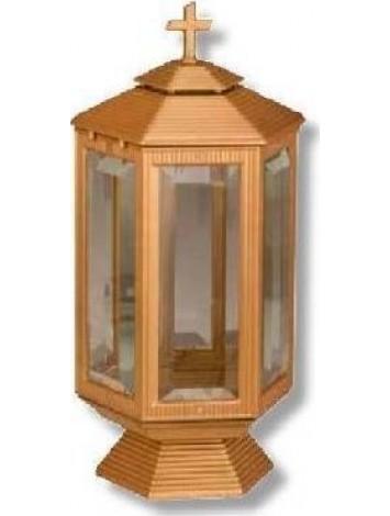 Καντήλι Αλουμινίου Εξάπλευρο Κρύσταλλο Μπρονζέ Ματ