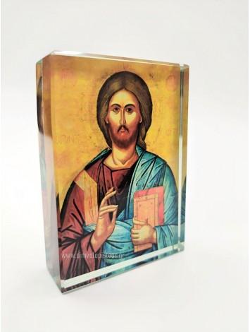 ΙΗΣΟΥΣ ΧΡΙΣΤΟΣ ΓΥΑΛΙΝΟ ΕΙΚΟΝΑΚΙ